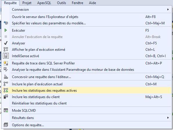 Comment activer les statistiques d'exécution en temps réel du plan de requête SQL Server
